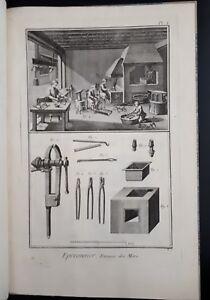 Enciclopedie Diderot 1751-1772: Eperonnier (fabbricatore briglie) - n.16 Tavole