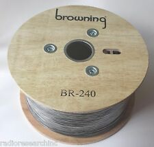 RF Coax Cable Low Loss LMR240 RG8X Type Solid Copper Center, 500ft Reel 500 feet