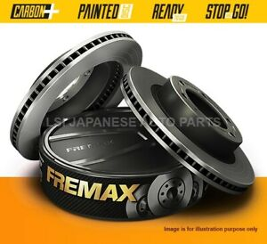 Fremax Front Disc Rotors for Land Rover Discovery Series 1 90-99 Solid Disc
