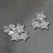 SD SilberDream Earring Stars white 925er Silver Ear Stud GSO2900J