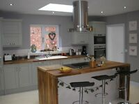 EUROPEAN WALNUT SOLID WOOD WORKTOPS, 20mm STAVES, DARKER THAN OAK, BEECH