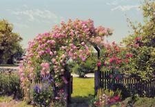 Carta da parati per camera da letto grande foto murale parete rose rosa Garden Wall Art Decor