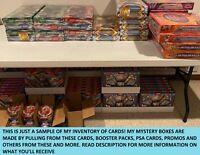 Pokemon Mystery Box   72+ Booster Packs, Vintage WOTC Holo, GX EX, PSA Graded