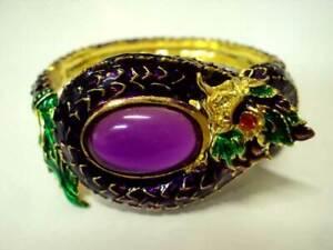 Naga Bracelet Talisman Bangle Jewelry Gem Rich Charm Dragon Thai Buddhist Amulet