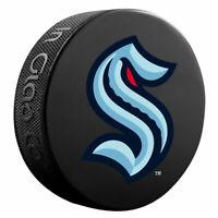 SEATTLE KRAKEN Basic Team Logo Model SOUVENIR NHL HOCKEY PUCK New InGlasCo.