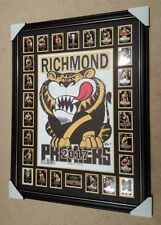 2017 Richmond WEG Wegart Premiership Poster FRAMED with PREMIERSHIP cards