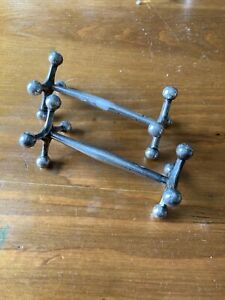 Pair Of Victorian Solid Silver Knife Rests