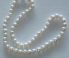 8MM Super White South Sea Shell Pearl Necklace NEW (silk gift bag)