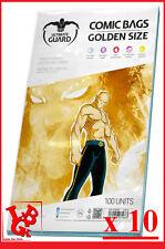 Pochettes Protection GOLDEN Size comics VO x 10 Ultimate Guard Marvel # NEUF #