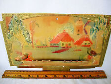 "Vintage Calendar Holder Springtime Card W/ Stand - 3-D Birds, Trees Design 11"" W"