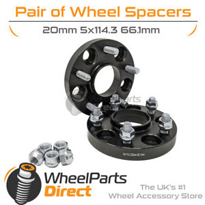 Bolt-On Wheel Spacers (2) 5x114.3 66.1 20mm for Nissan 300ZX Z32 [Mk2] 90-96