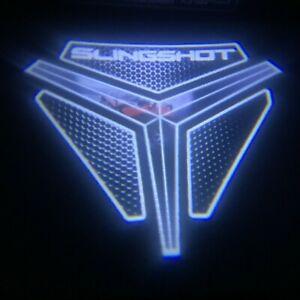 POLARIS SLINGSHOT LOGO LED LIGHT projection light shines image onto ground