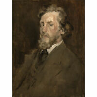 Chase Portrait Of Man C1875 Painting Wall Art Canvas Print 18X24 In