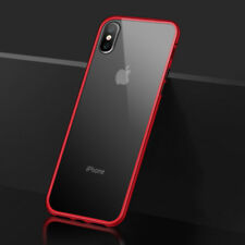 For IPhone XS MAX XR Luxury Magnetic Adsorption Metal Case+ Free Tempered Glass
