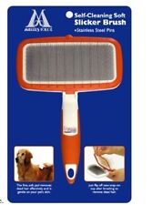 MILLERS FORGE SELF CLEANING GROOMER SOFT SLICKER BRUSH. FREE SHIP TO THE USA