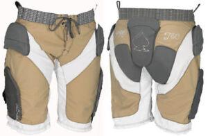 "PROTEC Halo Womens Padded Snowboard Impact Shorts - Tan/White/Carbon 29 - 30"" L"