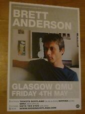 Brett Anderson (Suede) Glasgow may 2007 live music show tour concert gig poster