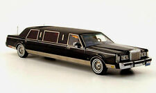 wonderful modelcar Lincoln Towncar Formal Stretch Limousine 1985 - black - 1/43