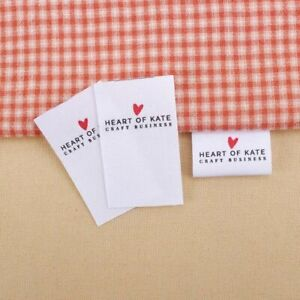 Personalized Custom Clothing Labels Name Tags Cotton Print Garment Sew On Label