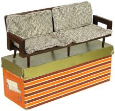 Vintage 1958 Mattel Modern Mid-Century Mod Sofa Couch Dollhouse Furniture w/Box