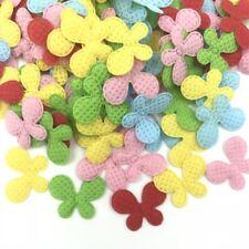 200pcs Mixed Colors butterfly Felt Appliques Plaid Felt Appliques Crafts