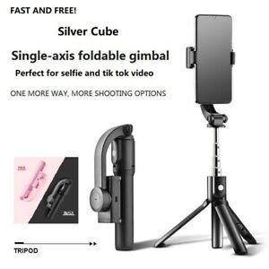 Mobile phone Bluetooth Selfie stick Gimbal handheld stabilizer tripod UK GIFT