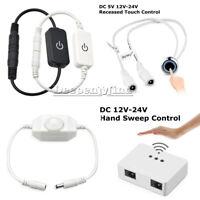 Hand Sweep/Touch Sensor Dimmer Switch for LED Strip Light DC 12V-24V ON/OFF