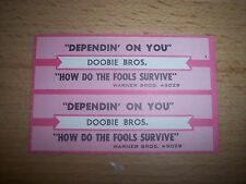 "2 Doobie Bros Dependin' On You Jukebox Title Strips CD 7"" 45RPM Records"
