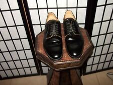 Mr. B's Leather Oxford Dress Shoes Black Rare Lace-Up Gentlemen Mens 9.5 NICE