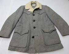 PENDLETON J4451 Men's Size XL Vintage Sheep Collar Heavy Wool Gray Peacoat