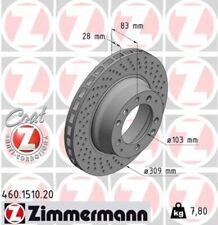 ZIMMERMANN Bremsscheibe Bremse COAT Z Hinten Rechts für Porsche 911 3.3 Turbo
