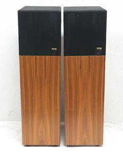 Lot 2 KEF 107 Reference Series 3-Way Loudspeaker System Home Audio Speakers