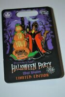 Disney Jafar & Iago Slider Mickey's Halloween Party Pin Glow In The Dark LE