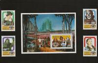 1989 Montserrat Wizard Of Oz Mint Set Commemorative Sheet 50 Year Anniversary