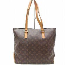 Louis Vuitton Brown Monogram Genuine Leather Mezzo Tote Bag Handbag 32748-B