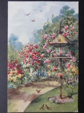 Bird Table in Flower Garden by J.Salmon No.3811