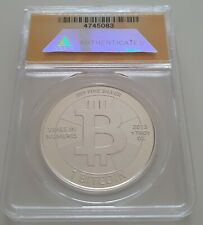 2013 silver Casascius coin / unredeemed / ANACS MS 68 / ultra rare / BTC