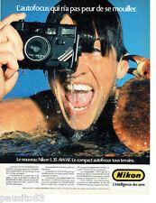 PUBLICITE ADVERTISING  046  1988  Nikon appareil phioto autofocus L35 AWAF