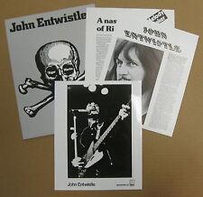 JOHN ENTWISTLE'S Rigor Mortis (Sets In) 1973 US Promo PRESS KIT The WHO Ashton