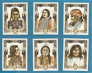 Cigarette/trade Cards - WILD WEST INDIANS - Full mint condition set.