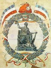 Politica culturale rivoluzione francese Francia LIBERTY VINTAGE Pubblicità POSTER 1791py
