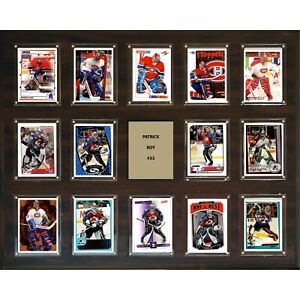 "NHL 16""x20"" Patrick Roy Montreal Canadiens 14-Card Plaque"