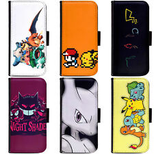 PIN-1 Game Pokemon B Phone Wallet Flip Case Cover for HTC Nokia Oppo Xiaomi