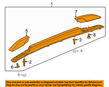 Chevrolet GM OEM 15-16 Trax Roof Rack Luggage Carrier-Side Rail Left 95415756