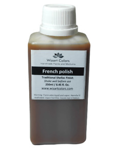 250 ml Shellac French Polish to permanently block stain, wood knots, Smells.