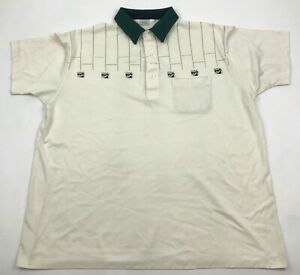 VINTAGE Sears Polo Shirt Mens Store Size Extra Large 1X Short Sleeve Polycotton