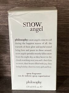 NIB Philosophy Snow Angel Spray Fragrance 4 oz Eau De Toilette Spray New In Box