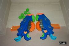 2 Nerf Buzzsaw Toy Guns w/6 Balls Kids Shooter Blaster Hasbro Blue Excellent