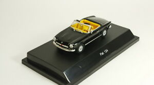 Scale model 1/43 Fiat 124 Spider black