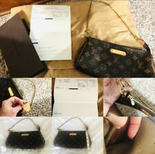 Authentic Louis Vuitton LV Monogram Eva Clutch Retired With Receipts
